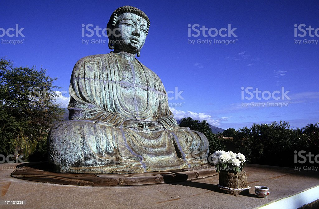 USA Hawaii Maui, Lahaina, Jodo Mission, statue. stock photo