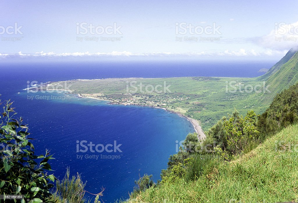 USA Hawaii Molokai, Kalaupapa Peninsula. royalty-free stock photo