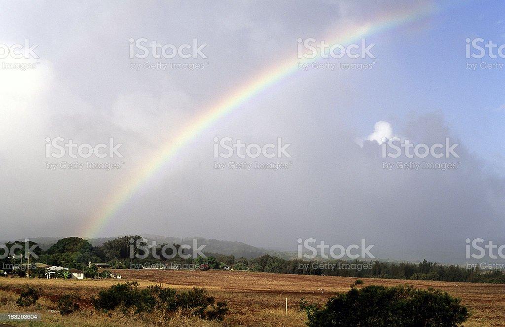 USA Hawaii Molokai, Mauna Loa, Rainbow. royalty-free stock photo