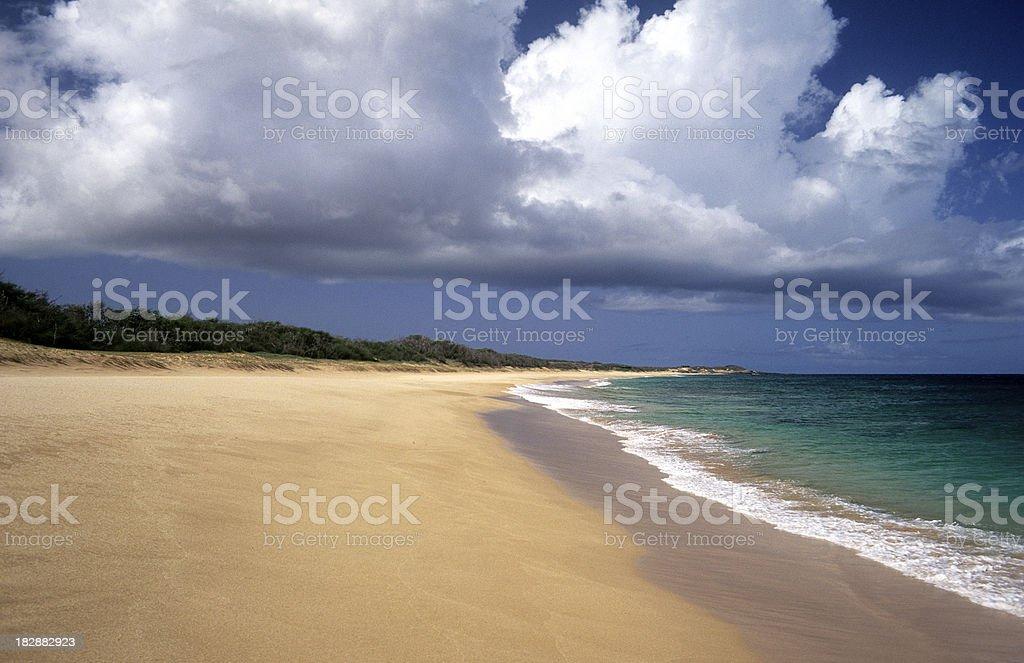 USA Hawaii Molokai, Papohaku Beach. royalty-free stock photo