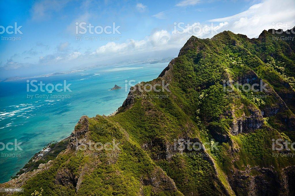 Hawaii Mountain Peak stock photo