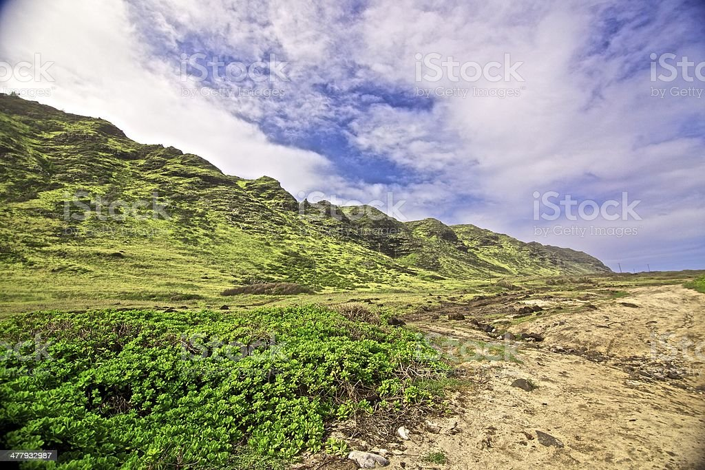 hawaii mountains royalty-free stock photo