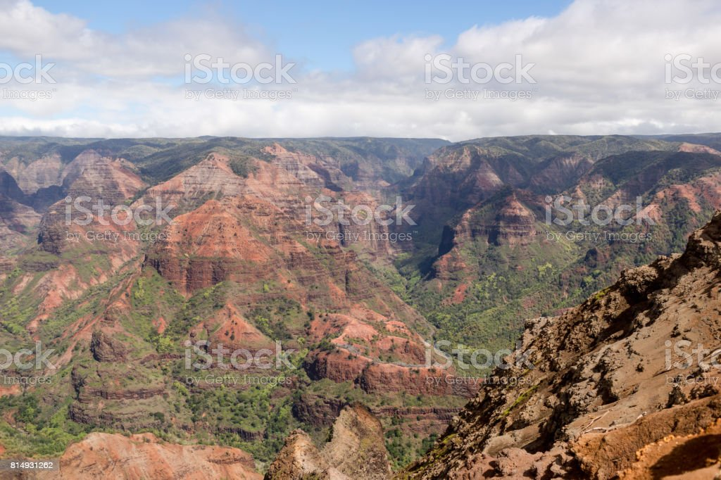 Hawaii Mountains stock photo
