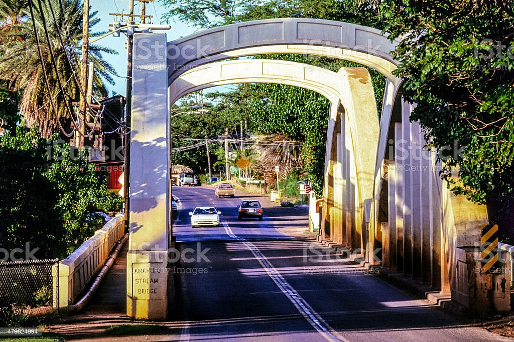 USA, Hawaii, Oahu, Anahulu Steam Bridge stock photo