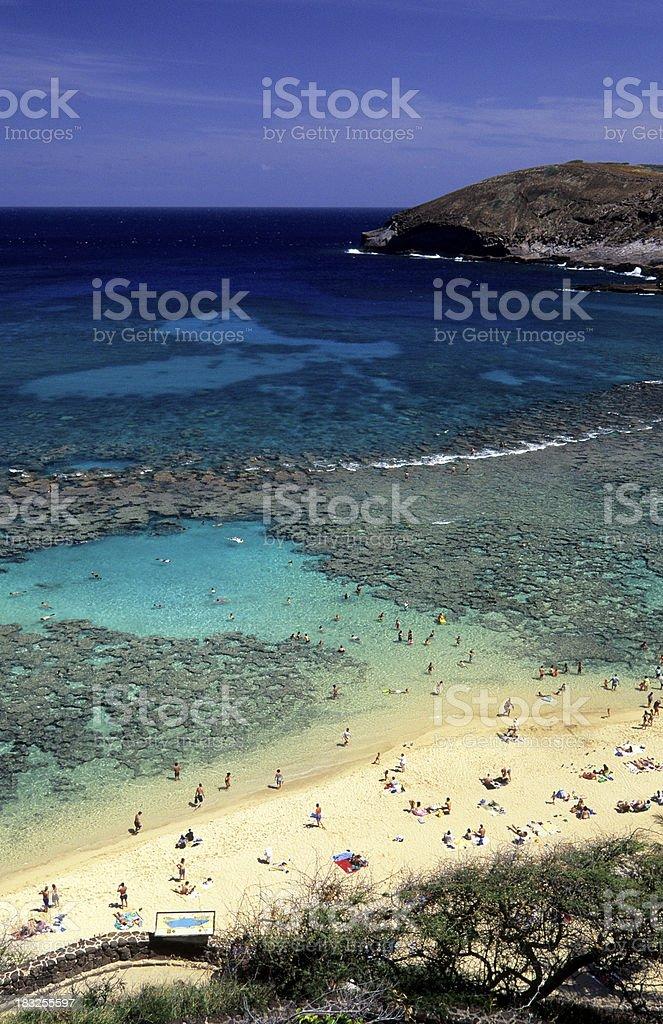 USA Hawaii O'ahu, Hanauma Bay. stock photo