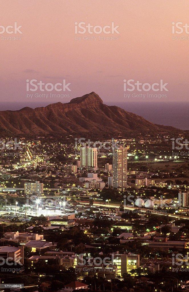 USA Hawaii O'ahu, Honolulu, Diamond Head. royalty-free stock photo