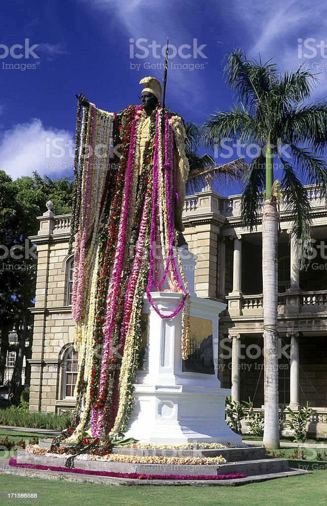 USA Hawaii O'ahu, Honolulu, King Kamehameha I. stock photo