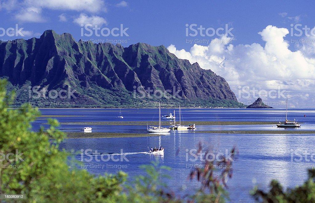 USA Hawaii O'ahu, Kane'ohe Bay. royalty-free stock photo