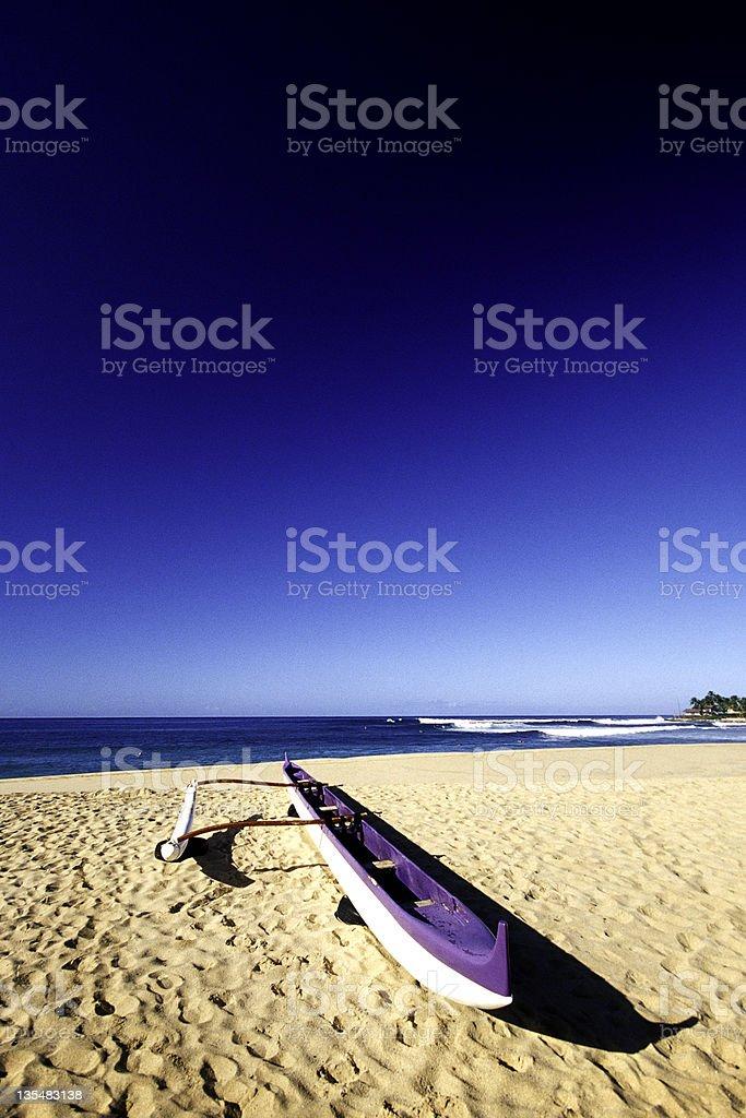 USA Hawaii O'ahu, Makaha Beach, Outrigger Canoe. royalty-free stock photo