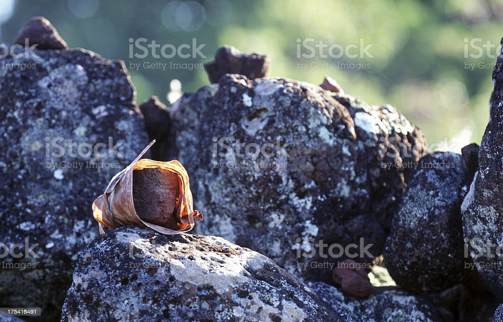 USA, Hawaii, Oahu, North Shore, lava rock. stock photo
