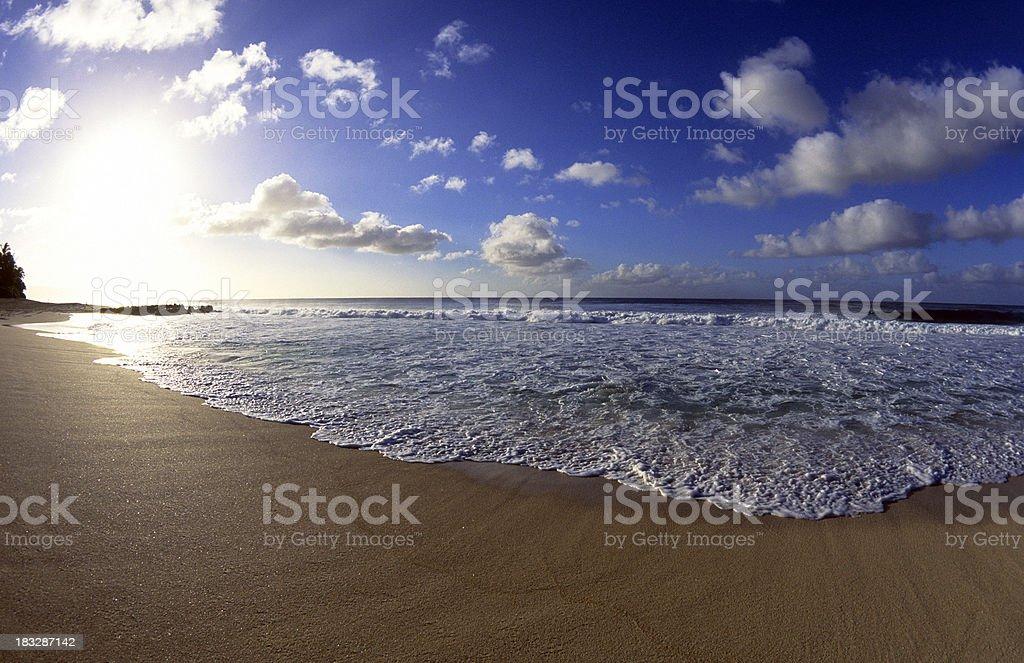 USA Hawaii O'ahu, North Shore, ocean waves. royalty-free stock photo