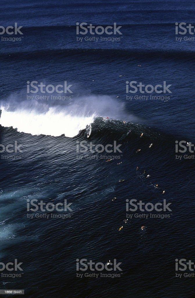 USA Hawaii O'ahu, North Shore, Pipeline. stock photo