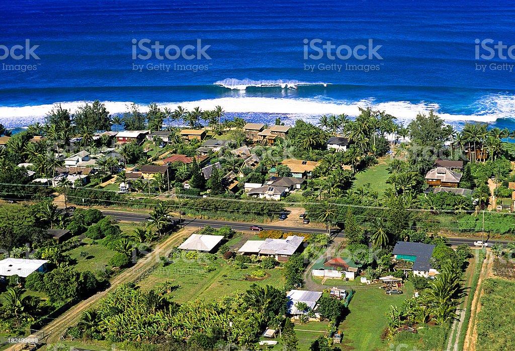 USA Hawaii O'ahu, North Shore, Sunset Beach. royalty-free stock photo