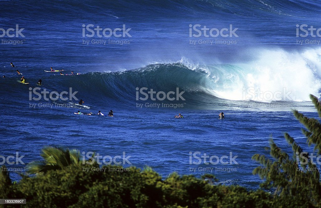 USA Hawaii O'ahu, North Shore, Sunset Beach. royalty-free stock photo