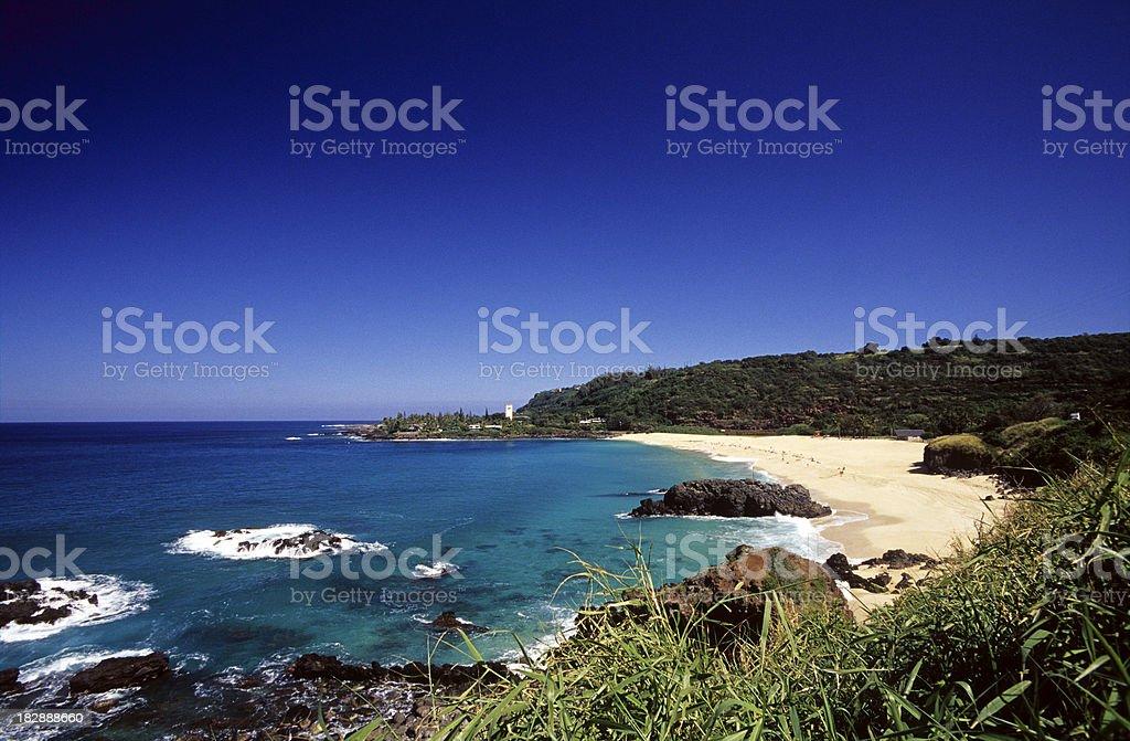 USA Hawaii O'ahu, North Shore, Waimea Bay. royalty-free stock photo