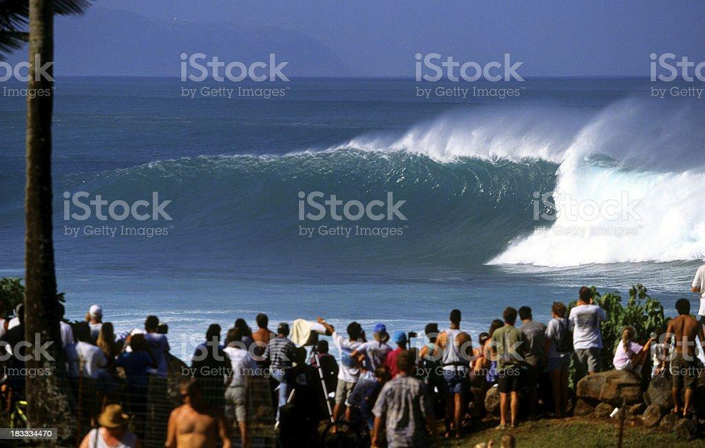 USA Hawaii O'ahu, North Shore Waimea Bay. royalty-free stock photo