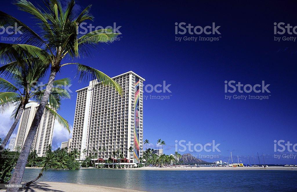 USA Hawaii O'ahu, Waikiki. royalty-free stock photo