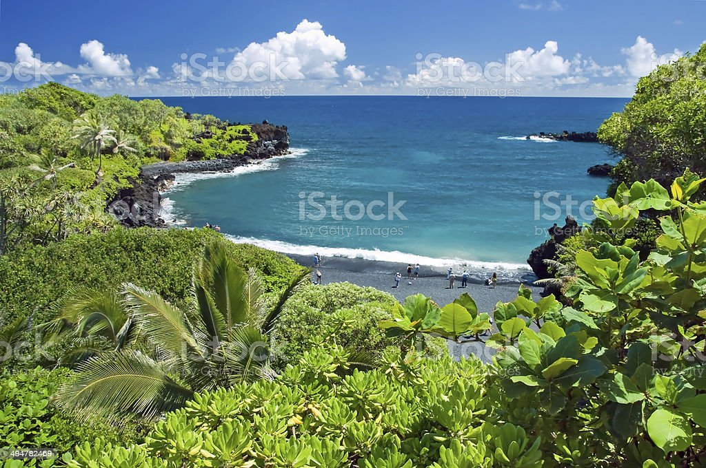 Hawaii paradise on Maui island stock photo