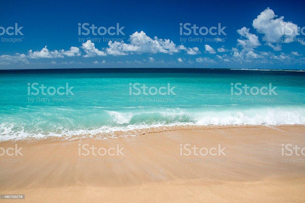 Hawaii Poipu beach landscape stock photo