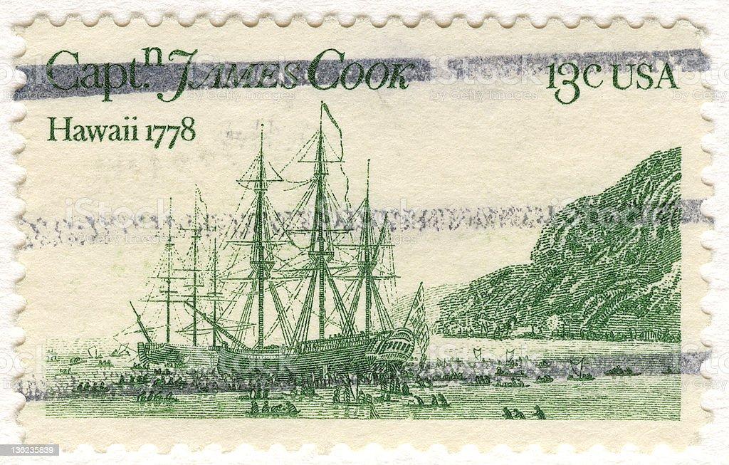 Hawaii Postage Stamp stock photo