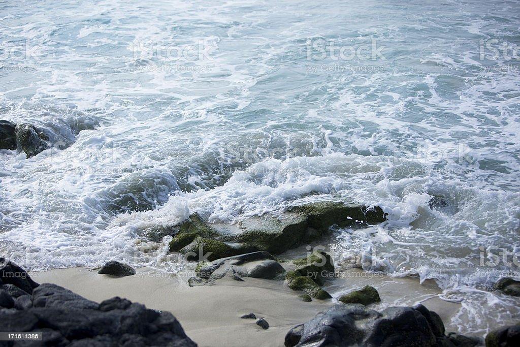 Hawaii Rocky Ocean royalty-free stock photo