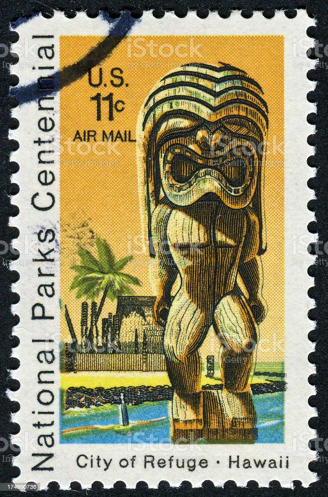 Hawaii Stamp royalty-free stock photo