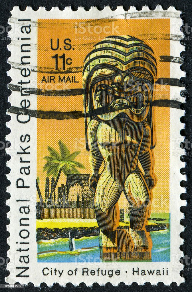 Hawaii Stamp royalty-free stock photo