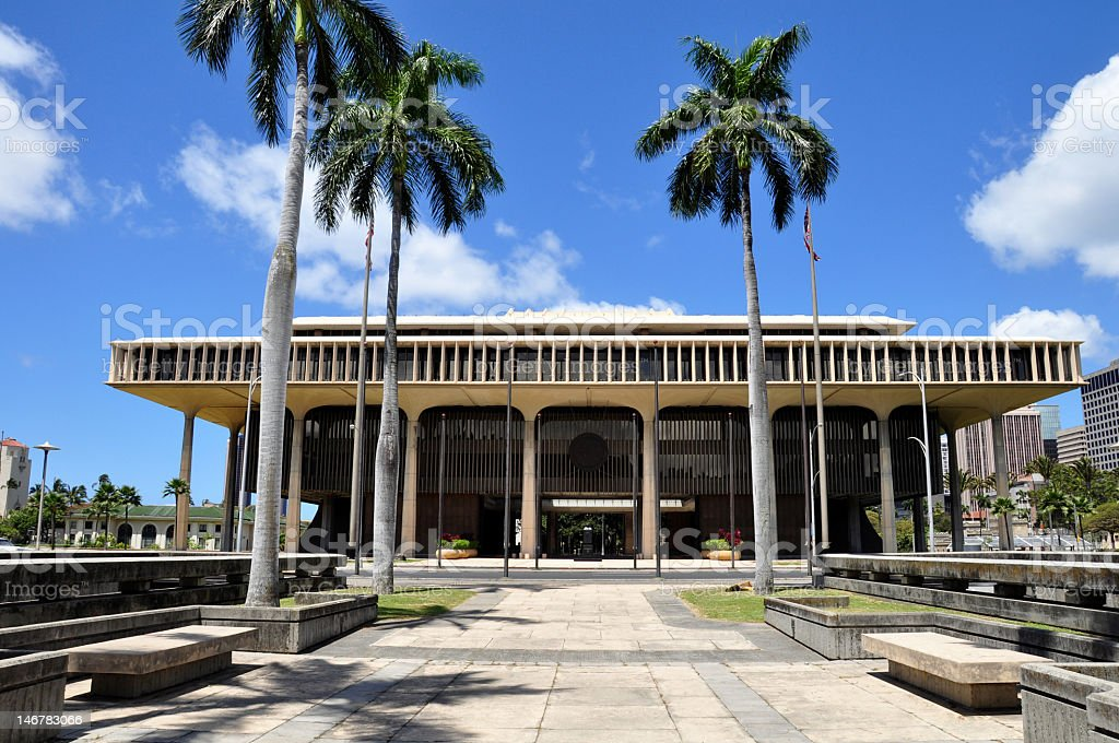 Hawaii State Capitol Building royalty-free stock photo
