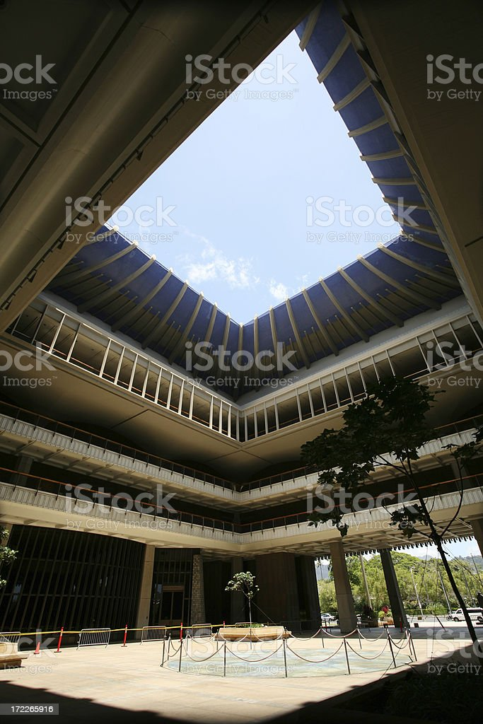 Hawaii State Capitol royalty-free stock photo