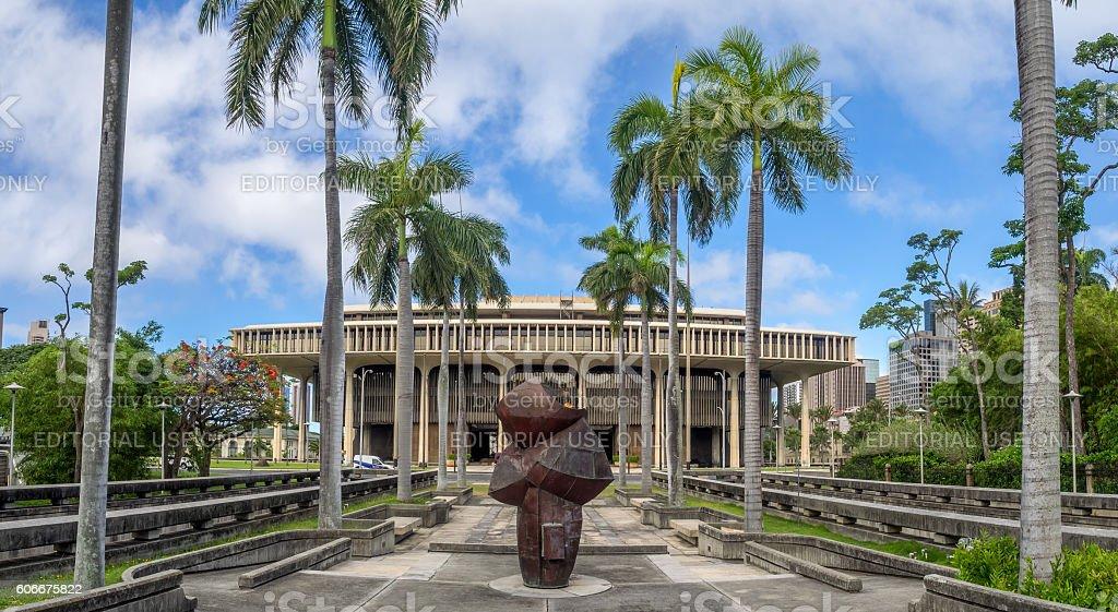 Hawaii State Legislature stock photo