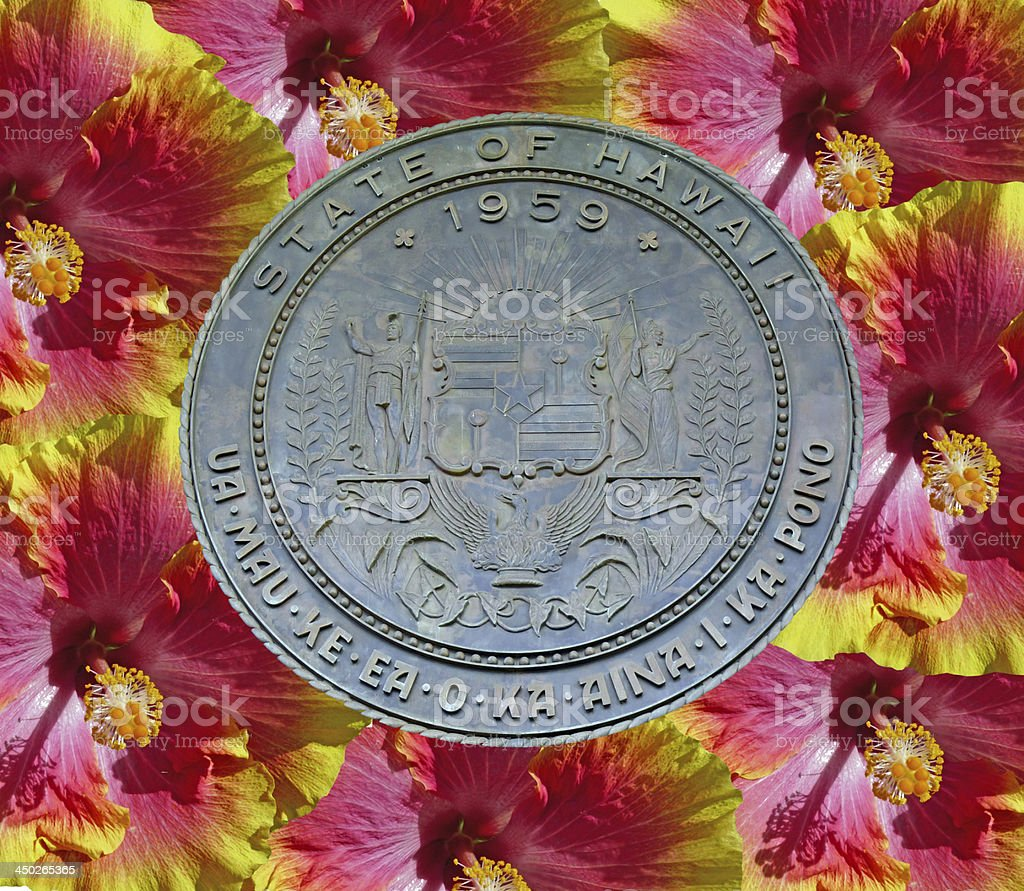 Hawaii State Seal stock photo