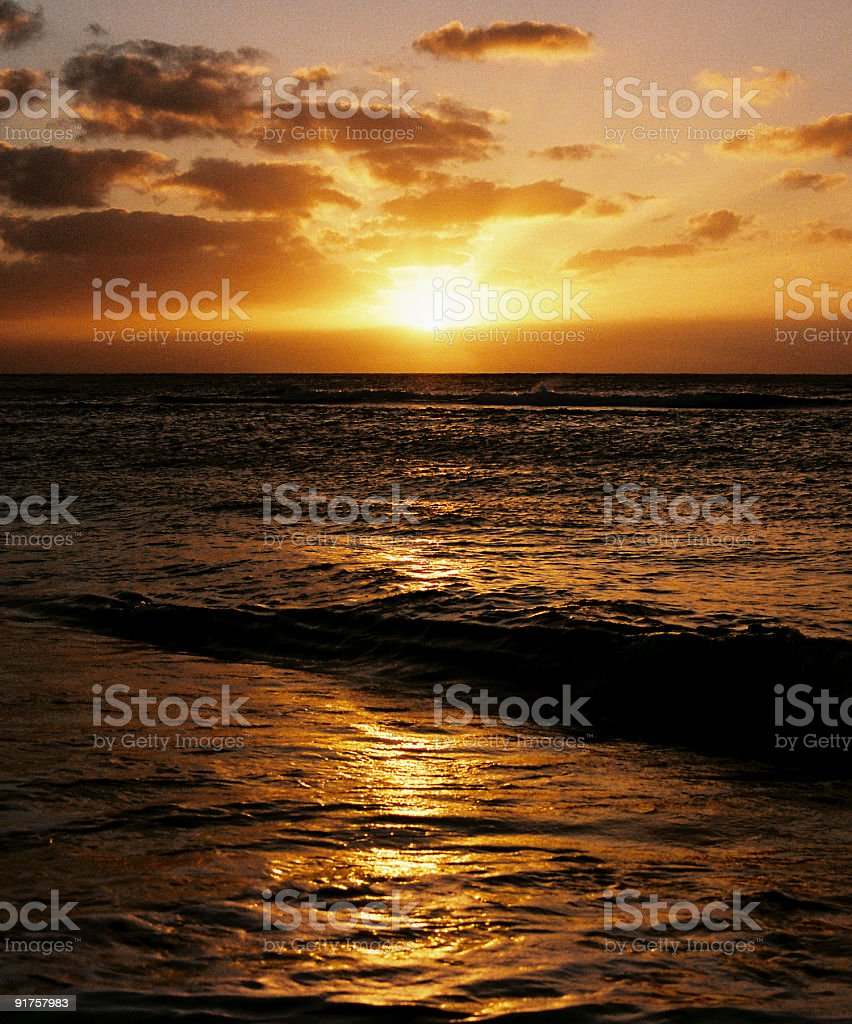 Hawaii sunrise stock photo