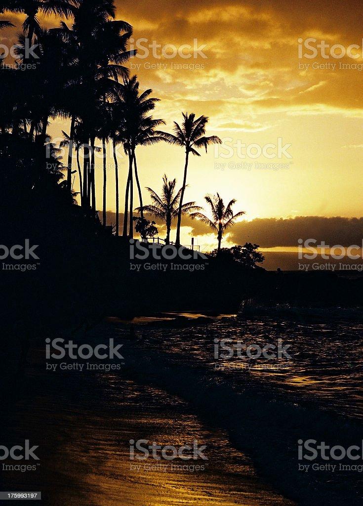 Hawaii Sunset royalty-free stock photo