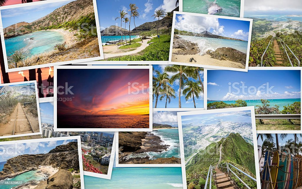 Hawaii Travel collage stock photo