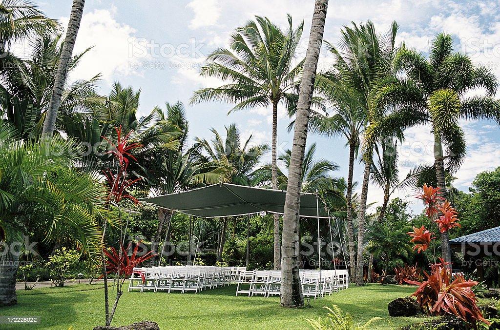 Hawaii tropical wedding site royalty-free stock photo