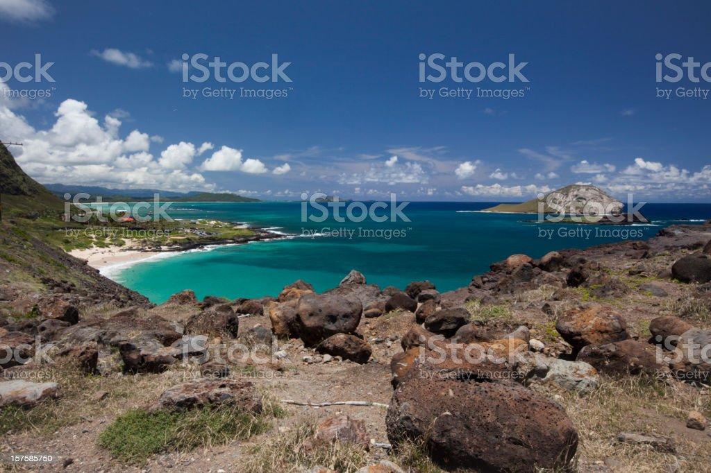 Hawaii volcanic landscape stock photo