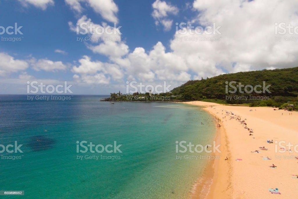 Hawaii Waimea Beach stock photo
