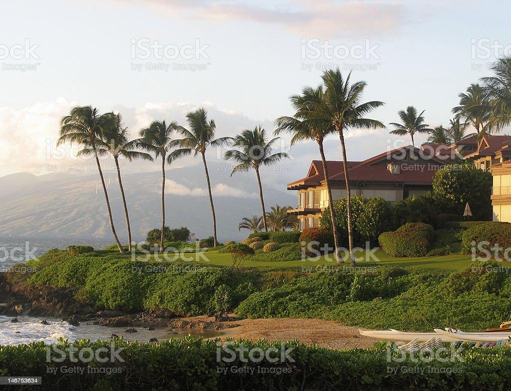 Hawaiian Beachfront Property stock photo