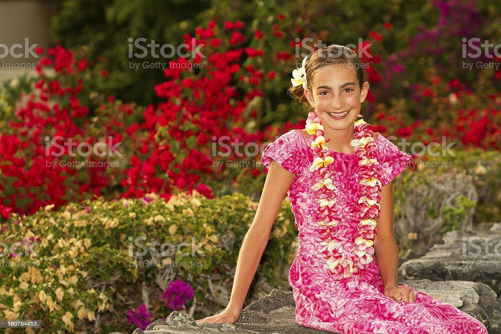 Hawaiian Beauty stock photo