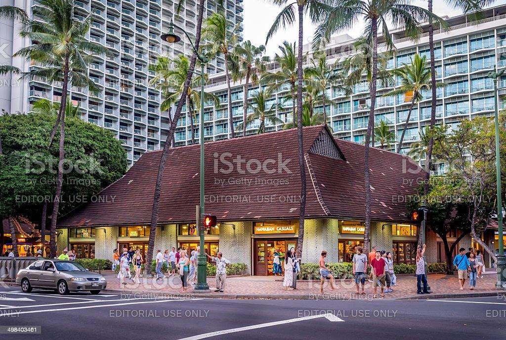 Hawaiian Casuals retail stock photo