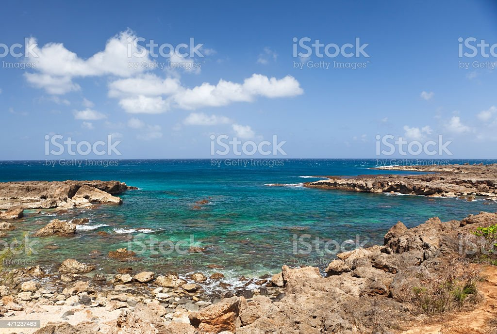 Hawaiian coastline stock photo