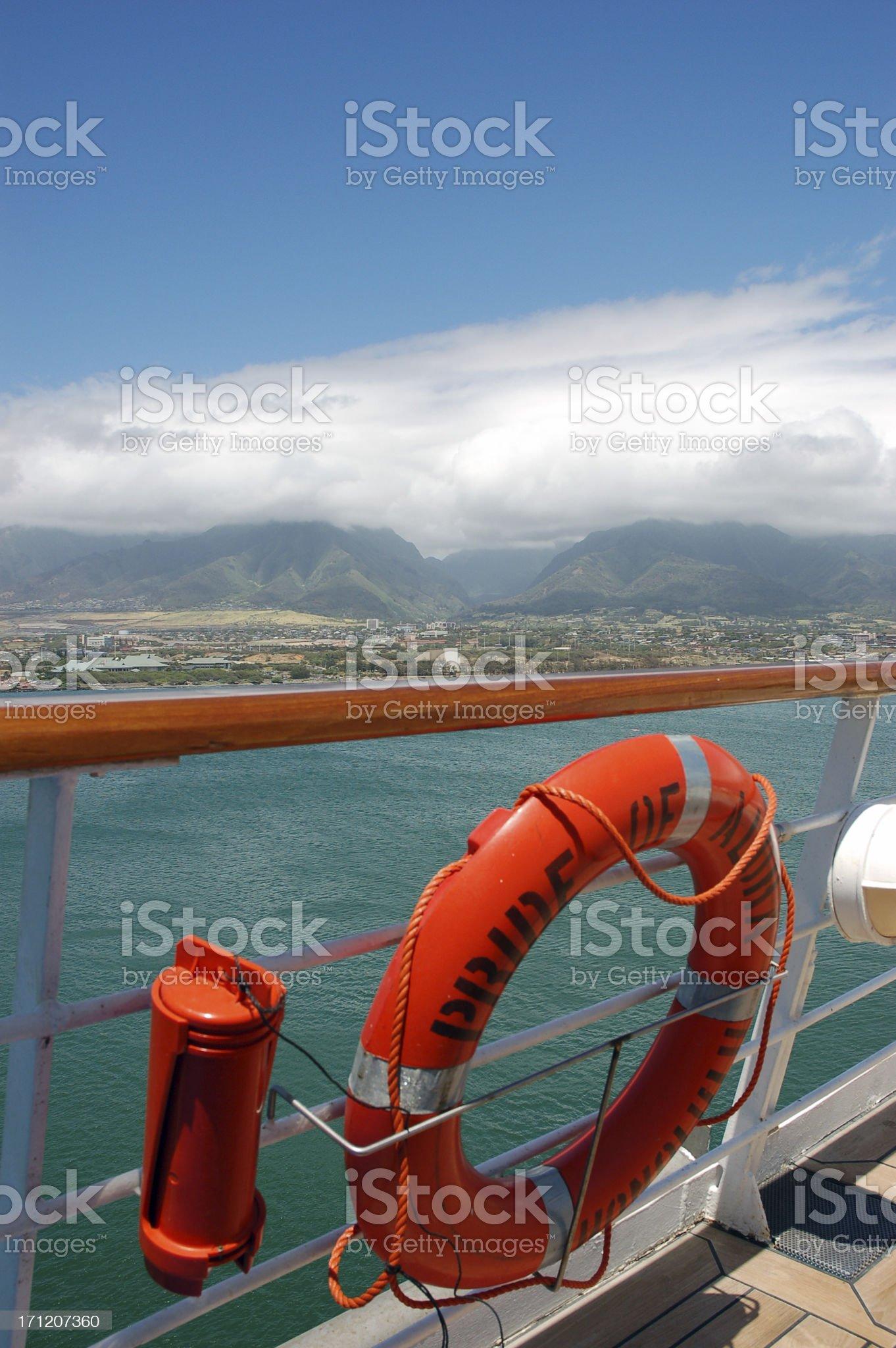 Hawaiian Cruise Ship royalty-free stock photo