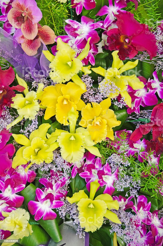Hawaiian Flower Bouquet stock photo