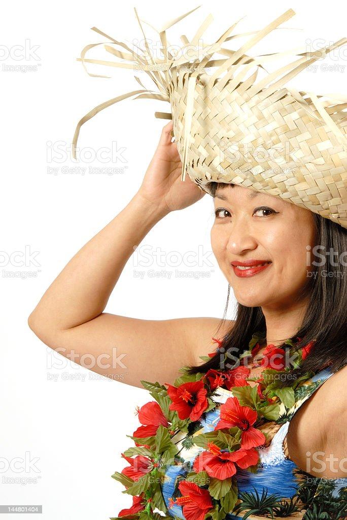 Hawaiian Girl royalty-free stock photo