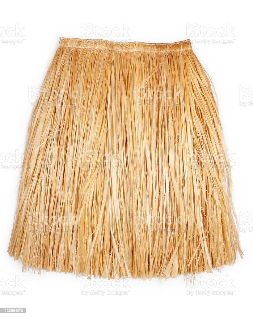 Hawaiian grass skirt stock photo