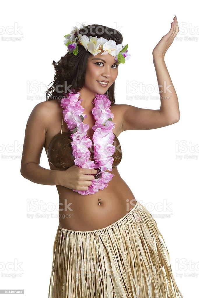 Hawaiian Hula Dancer Girl royalty-free stock photo