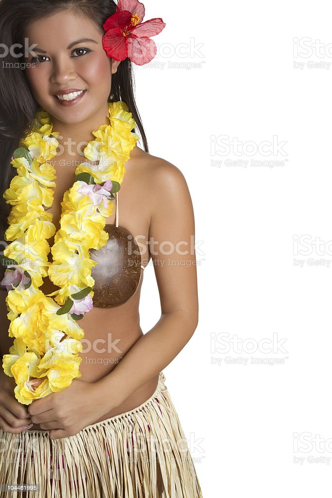 Hawaiian Hula Girl royalty-free stock photo