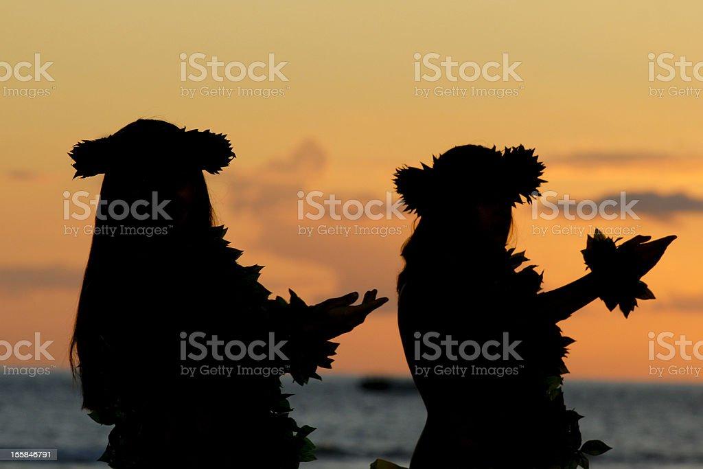 Hawaiian Hula stock photo