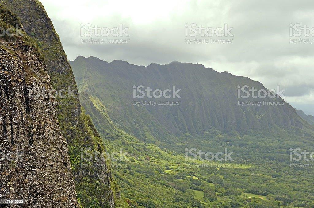 Montagnes d'Hawaï photo libre de droits