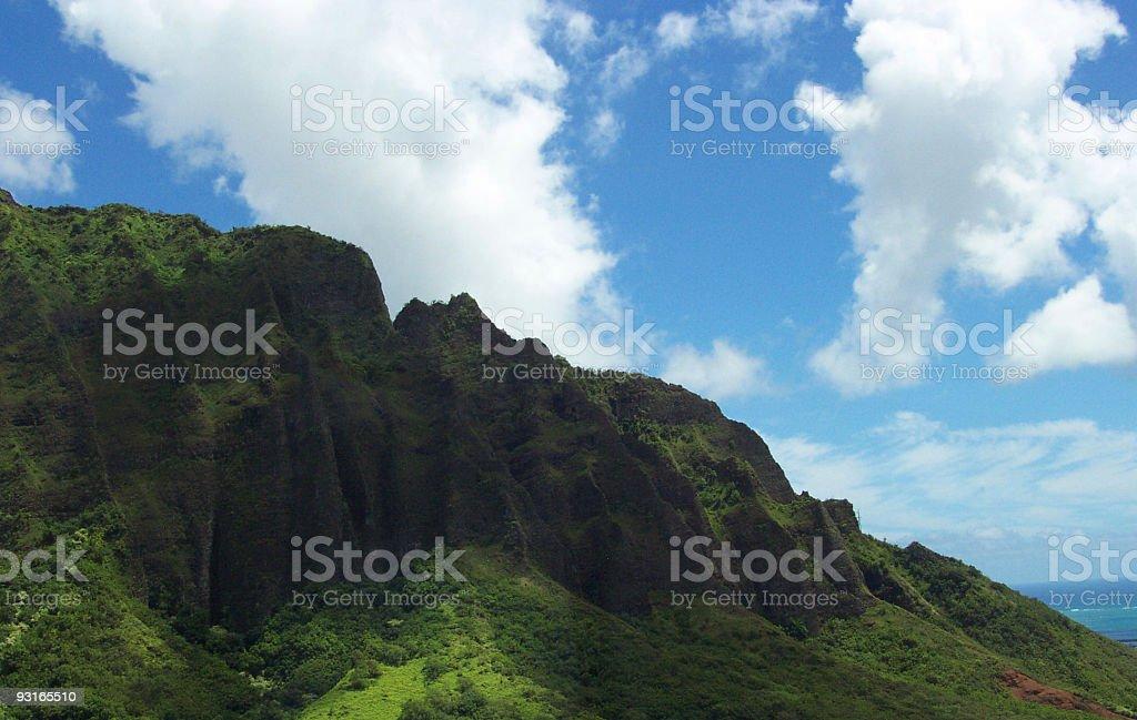 Hawaiian Mountains royalty-free stock photo